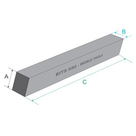 BITS QUADRADO HSS 1/2 X 4 10% DE COBALTO - SU-427 NVO
