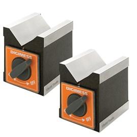 BLOCO EM V MAGNETICO EM PAR 100 X 70 X 95MM COM FORCA DE 100KGF - 310.105 DIGIMESS