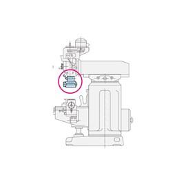 CABECOTE 90 GRAUS COM EIXO PORTA FRESA CURTO 2.000RPM ISO40 COM MANGOTE 110MM - VRA-ISO-40 VERTEX