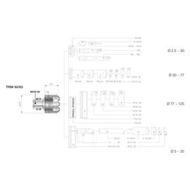 CABECOTE MICROMETRICO CAPACIDADE Ø 6,0 A 125MM - TRM 63 DANDREA